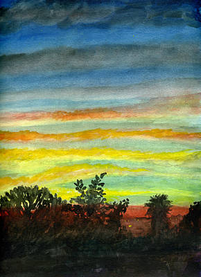Painting - Sunset #27 Backyard by Brian Meyer