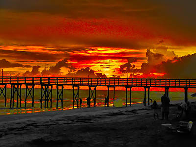 Sunset 4th Of July Art Print by Bill Cannon