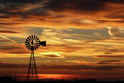 Windmill Photograph - Sunset 67 by Chris Harris