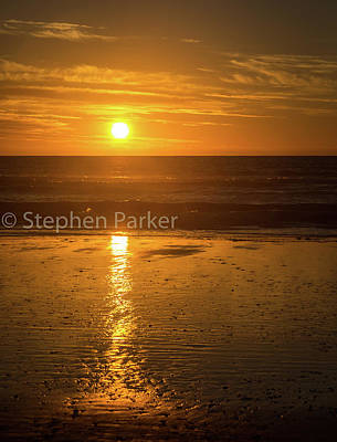 Photograph - Sunset  8b5460 by Stephen Parker