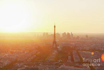 Sunset Above Paris Art Print