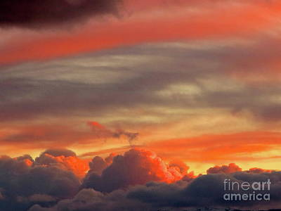 Photograph - Sunset Above The Clouds by Phyllis Kaltenbach