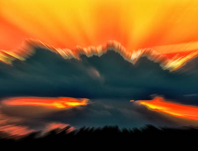 Sunset Abstract Art Print by Chris Flees