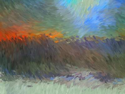 Digital Art - Sunset Abstract by Vilma Zurc