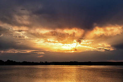 Photograph - Sunset Across A Colorado Lake by Tony Hake