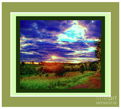 Photograph - Sunset Across The Field by Shirley Moravec
