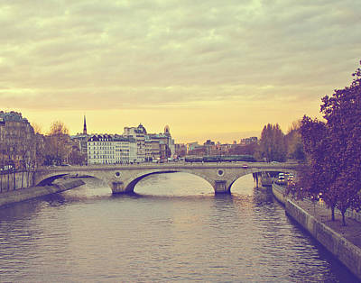 Photograph - Sunset Across The Seine by Melanie Alexandra Price