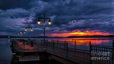 Photograph - Sunset After A Passing Thunderstorm by Scenic Vermont Photography