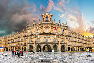 Photograph - Sunset After Rain - Plaza Mayor In Salamanca by JR Photography