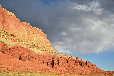 Photograph - Sunset After Storm On Capitol Reef by Ray Mathis