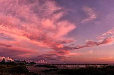 Southwest Florida Sunset Photograph - Sunset Afterglow At The Pier by Frank J Benz