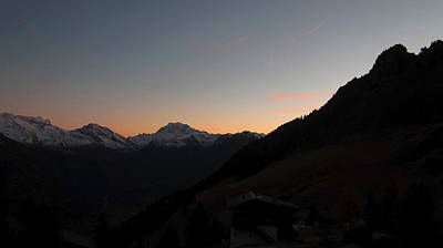 Photograph - Sunset Afterglow In The Mountains by Ernst Dittmar