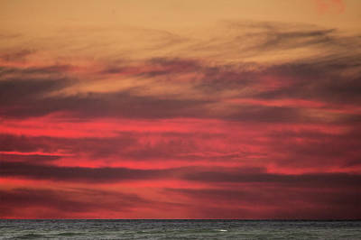 Photograph - Sunset Afterglow Over Lake Michigan Near Little Sable Point by Randall Nyhof