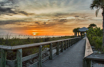 Photograph - Sunset Along The Boardwalk by Shari Jardina
