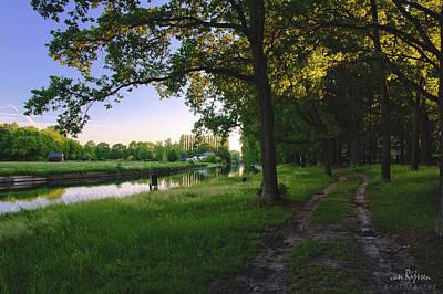 Natuur Photograph - Sunset Alongside Willemsvaart  by Rene Van Rijssen