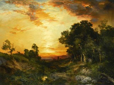 Amagansett Painting - Sunset Amagansett by Thomas Moran