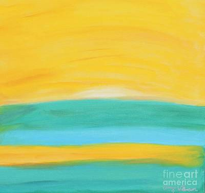Abstract Oil Painting - Sunset by Amy Wilkinson