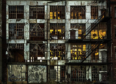 Photograph - Sunset And Broken Glass The Fort William Starch Company by Jakub Sisak