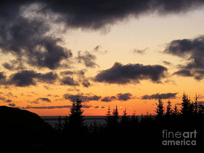 Art Print featuring the photograph Sunset And Dark Clouds by Barbara Griffin