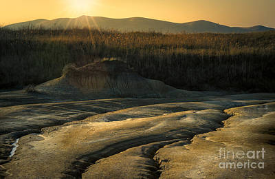 Photograph - Sunset And Mud Textures by Susanna Patras