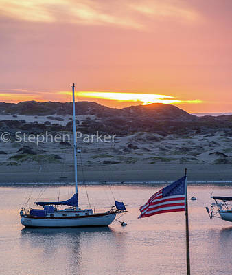Photograph - Sunset And Sailboats 8b5202 by Stephen Parker