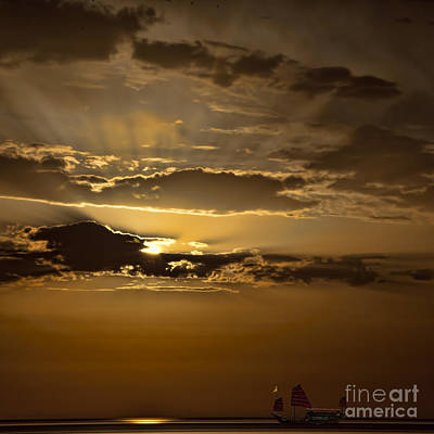 Photograph - Sunset And Sanpan by Shirley Mangini