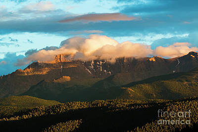Photograph - Sunset And Snow On Pikes Peak by Steve Krull
