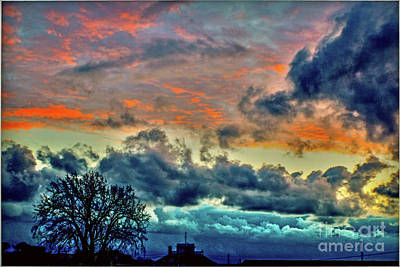 Photograph - Sunset And Storm Coming by Sandy Moulder
