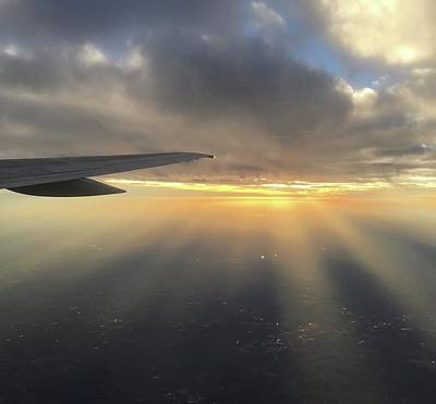 Photograph - Sunset And Sun Rays From The Plane by Richard Bryce and Family