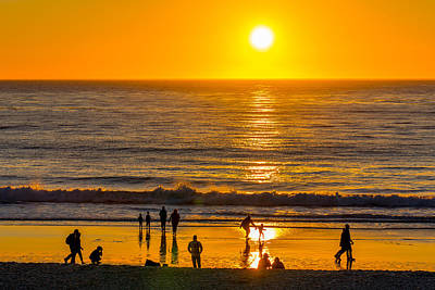 Photograph - Sunset And Surf by Derek Dean
