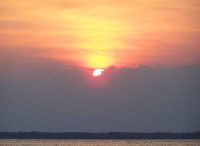 Art Print featuring the photograph Sunset And The Storm by Sandi OReilly