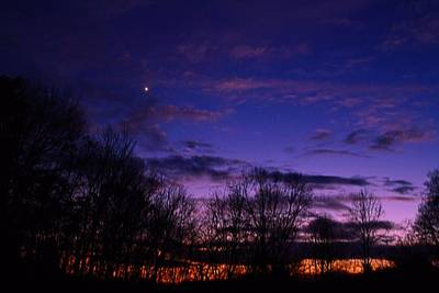 Photograph - Sunset And Venus by Kathryn Meyer