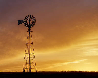 Photograph - Sunset And Windmill 09 by Rob Graham
