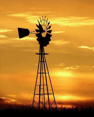 Photograph - Sunset And Windmill 15 by Rob Graham