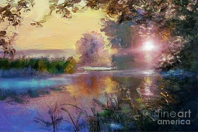 Artdeco Painting - Sunset  by Angie Braun