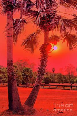 Photograph - Sunset Ankar Wat by Rick Bragan