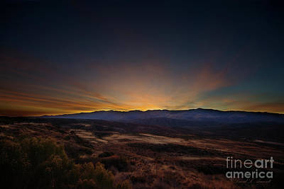 Photograph - Sunset Arizona Mountains by David Arment