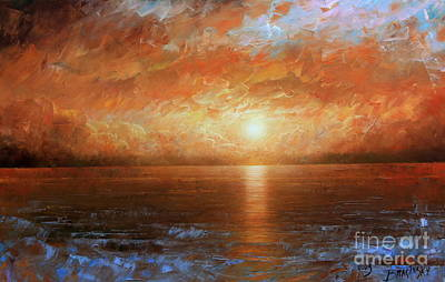 Sunset Art Print by Arthur Braginsky