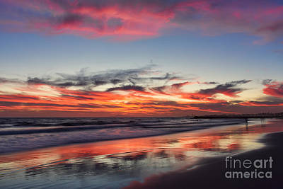 Jetty Digital Art - Sunset At 32nd Street by Eddie Yerkish