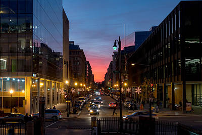 Photograph - Sunset At 9th And G Streets by SR Green