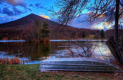 Photograph - Sunset At Abbott Lake by Steve Hurt