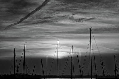Photograph - Sunset At Aldeburgh Yacht Club by David Calvert