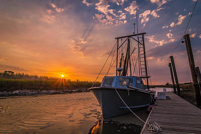 Alviso Photograph - Sunset At Alviso by Ian Aldridge