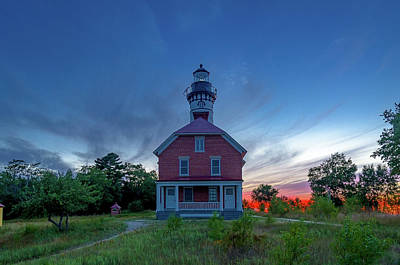 Photograph - Sunset At Au Sable Point Lighthouse by Gary McCormick