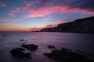 Photograph - Sunset At Ayrmer Cove by Pete Hemington