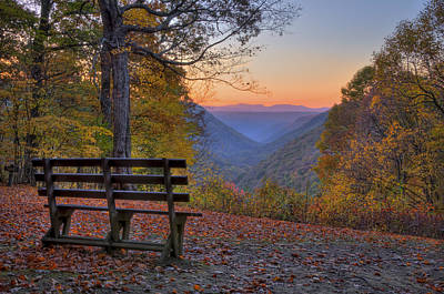 Sunset At Babcock Art Print by Williams-Cairns Photography LLC