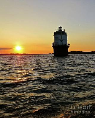 Photograph - Sunset At Baltimore Light  by Nancy Patterson