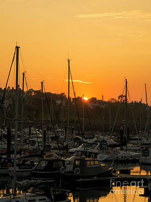 Photograph - Sunset At Bangor Marina by Jim Orr