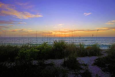 Sunset At Barefoot Beach Preserve In Naples, Fl Art Print
