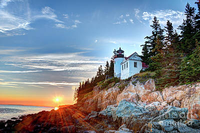 Photograph - Sunset At Bass Harbor Light by Jean Hutchison